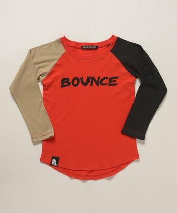 Red 'Bounce' Blocked Raglan Tee - Boys