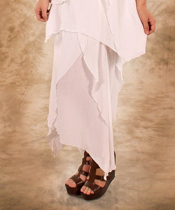 White Linen Handkerchief Skirt - Women & Plus