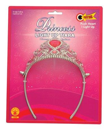 Rubie's Silver & Pink Heart Light-Up Tiara