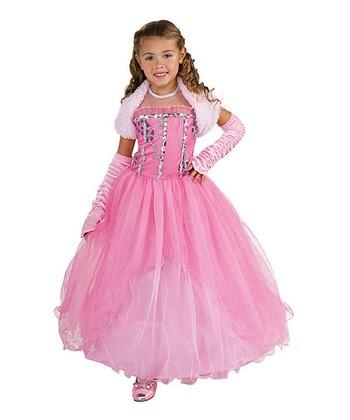 Rubie's Pink Princess Snowflakes Dress-Up Set - Girls