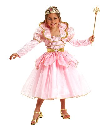 Pink & Gold Princess Dress-Up Set - Girls