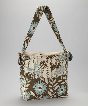 Brownie Gifts Blue & Brown Birds Diaper Bag
