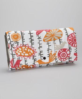 Brownie Gifts Red & Orange Birds Diaper Clutch