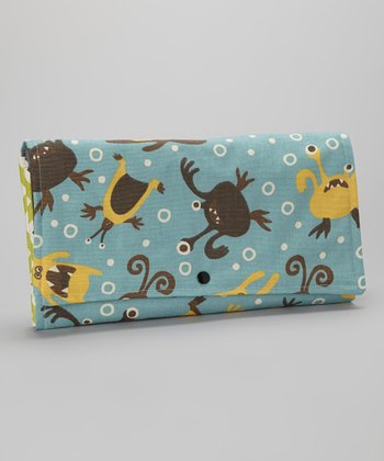Brownie Gifts Yellow & Brown Happy Monsters Diaper Clutch