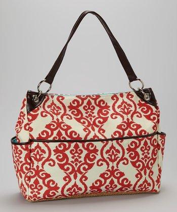 Caught Ya Lookin' Red Fleur-de-Lis Chic Diaper Bag