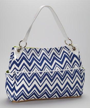 Caught Ya Lookin' Royal Blue Zigzag Chic Diaper Bag