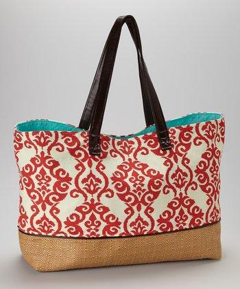 Caught Ya Lookin' Red Fleur-de-Lis Tailgating Bag
