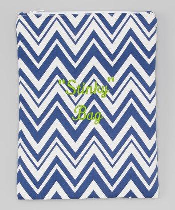 Caught Ya Lookin' Royal Blue Zigzag 'Stinky' Wet Bag
