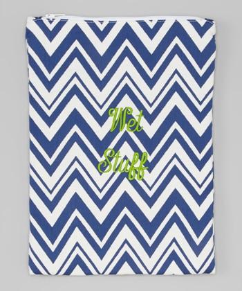 Caught Ya Lookin' Royal Blue Zigzag 'Wet Stuff' Bag