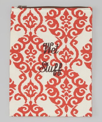 Caught Ya Lookin' Red Fleur-de-Lis 'Wet Stuff' Bag