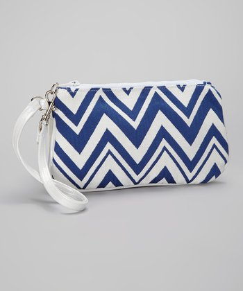 Caught Ya Lookin' Royal Blue Zigzag Large Coin Purse Wristlet