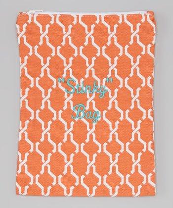 Caught Ya Lookin' Orange Hexagon 'Stinky' Wet Bag