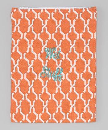 Caught Ya Lookin' Orange Hexagon 'Wet Stuff' Bag