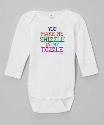 Biased, Baby White 'Shizzle Dizzle' Bodysuit