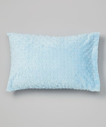 Baby Blue Minky Travel Pillowcase