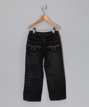 Raw Black Loop Pocket Jeans - Toddler & Boys