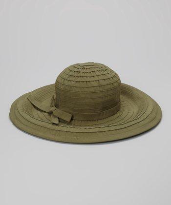 Olive Ribbon Bow Hat