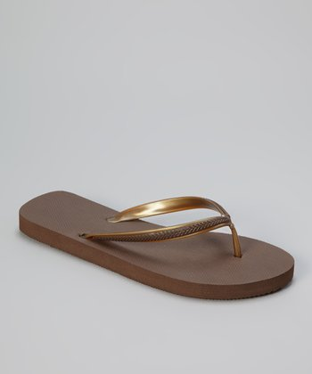 Esprit Java & Gold Basic Flip-Flop