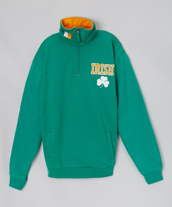 Green Shamrock 'Irish' Sweatshirt