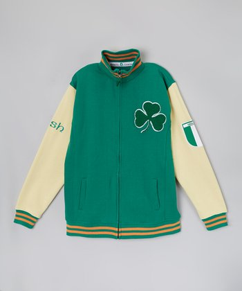 Green Shamrock Varsity Jacket