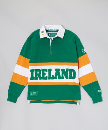 Green & Yellow 'Ireland' Rugby Pullover