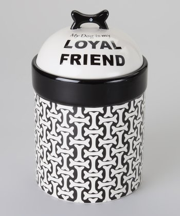 Black & White 'Loyal Friend' Treat Jar