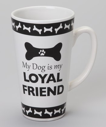 Black & White 'Loyal Friend' 17-Oz. Mug