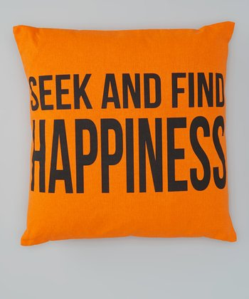 Orange 'Seek and Find' Throw Pillow