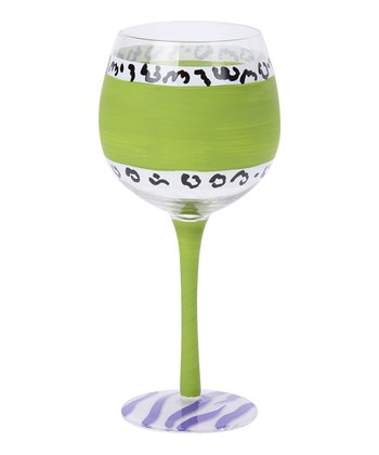 Green Chalkboard 18-Oz. Wine Glass