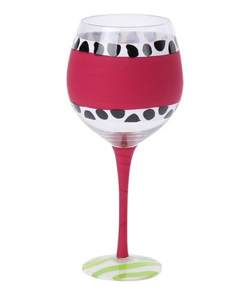 Pink Chalkboard 18-Oz. Wine Glass