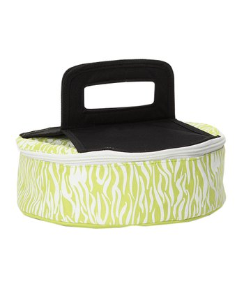 Green Zebra Round Insulated Pie Carrier