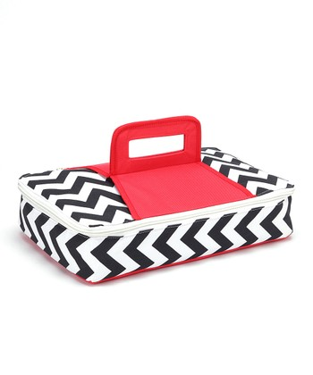 Red Rectanglular Insulated Food Carrier