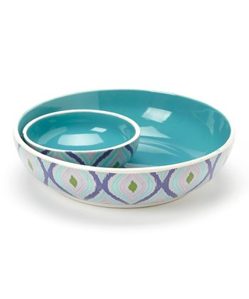 Blue Chip 'n' Dip Bowl Set