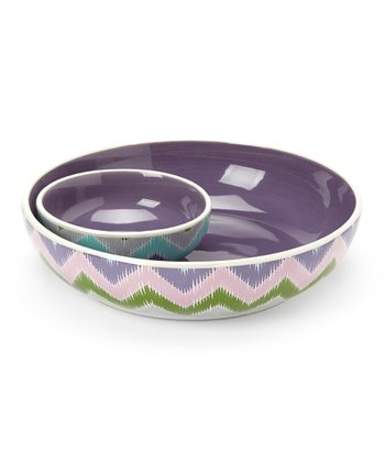 Purple Chip 'n' Dip Bowl Set