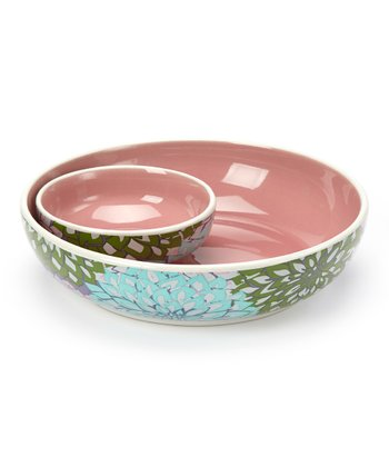 Pink Chip 'n' Dip Bowl Set
