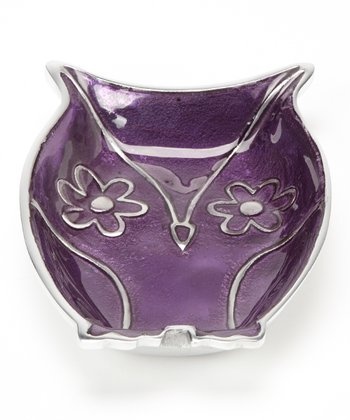 Purple Owl Plate