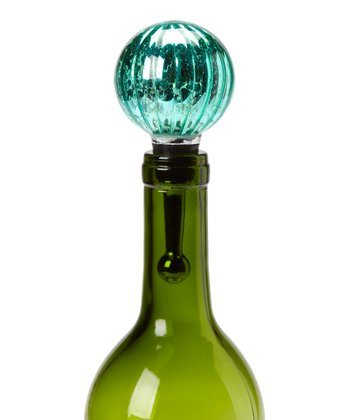 Teal Mercury Glass Bottle Stopper