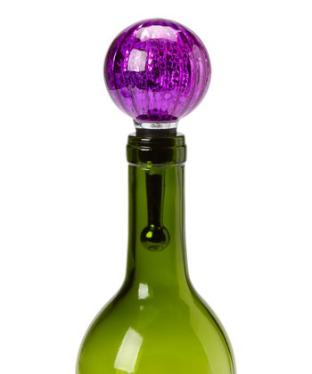 Purple Mercury Glass Bottle Stopper