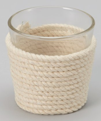 Tan Rope Tealight Holder