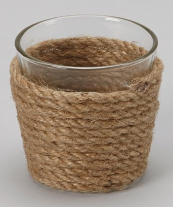 Cream Rope Tealight Holder