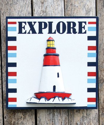 'Explore' Lighthouse Wall Art