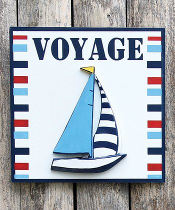 'Voyage' Sailboat Wall Art
