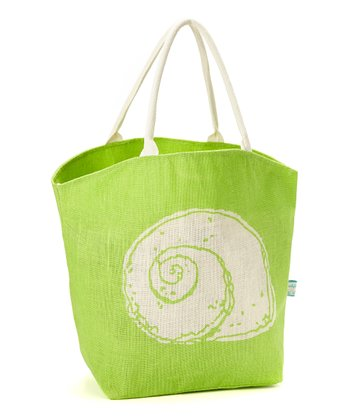 Green Seashell Tote