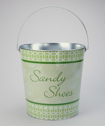 Green 'Sandy Shoes' Large Bucket