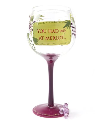 Pink 'Merlot' 18-Oz. Wineglass