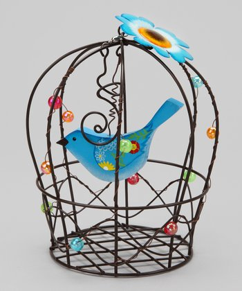 Blue Birdcage Decoration