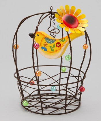 Yellow Birdcage Decoration