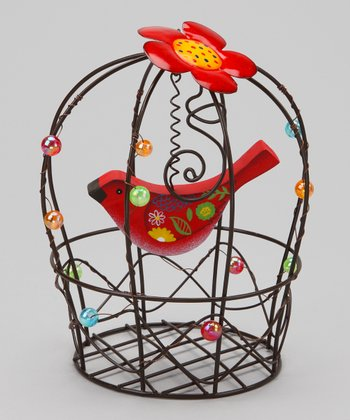 Red Birdcage Decoration