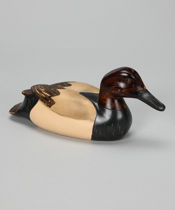 Espresso & Cream Decoy Duck Figurine