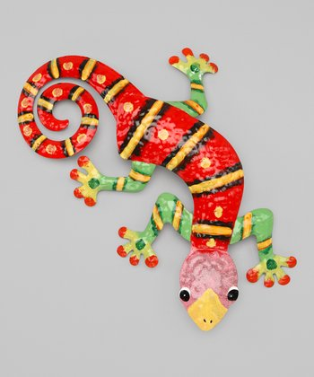 Red & Lime Green Gecko Wall Art